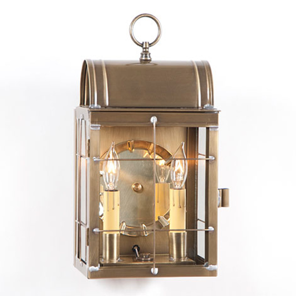 Irvin's Toll House Wall Outdoor Lantern Finished In Weathered Brass