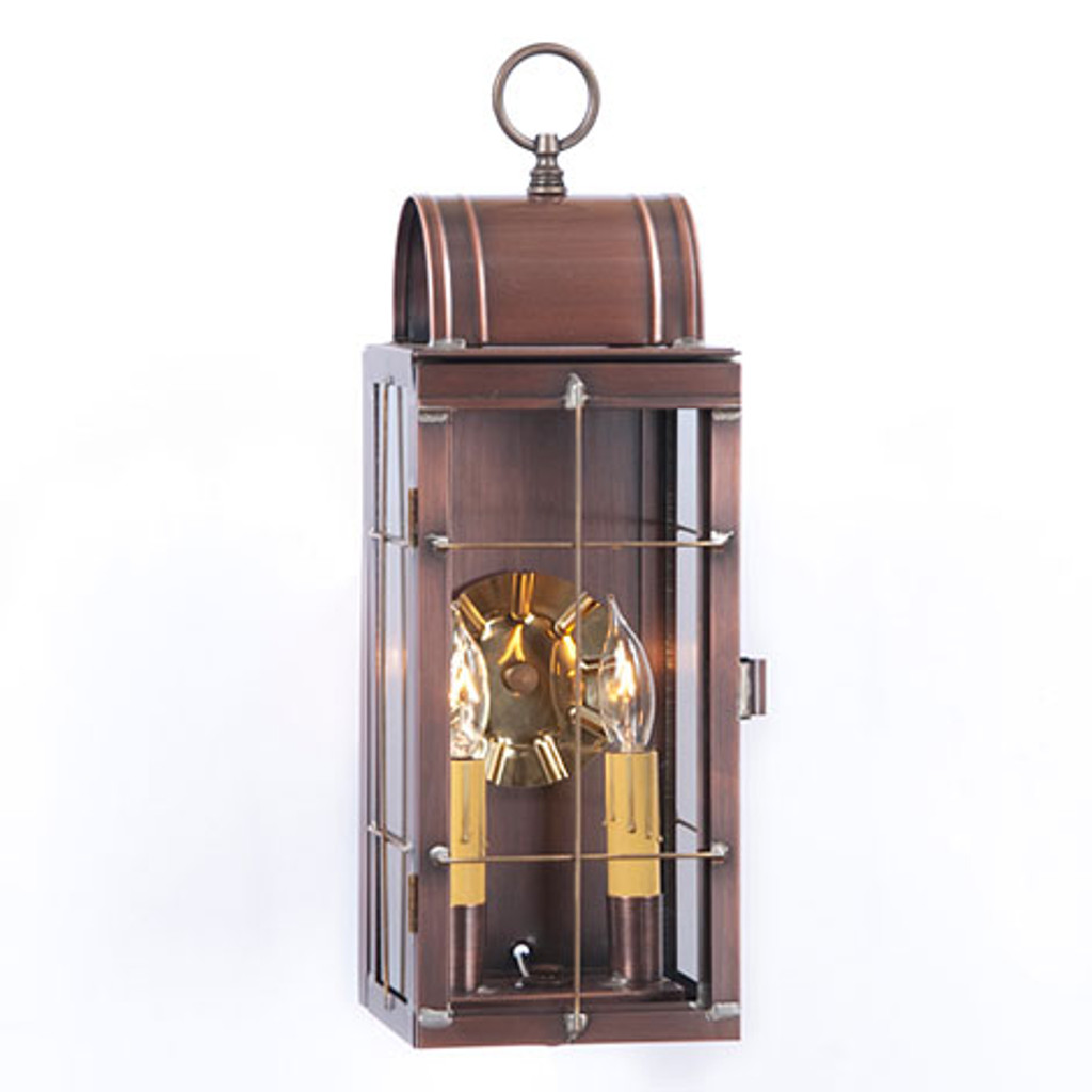 Irvin's Queen Arch Outdoor Lantern Finished In Antique Copper
