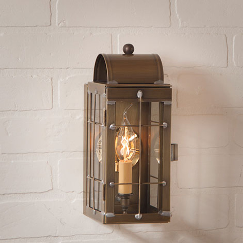 Irvin's Tinware Outdoor Cape Cod Wall Lantern Finished In Weathered Brass