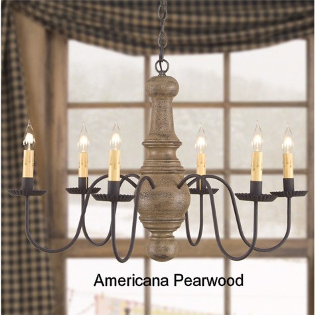 Irvin's Maple Glenn Wooden Chandelier In Americana Pearwood