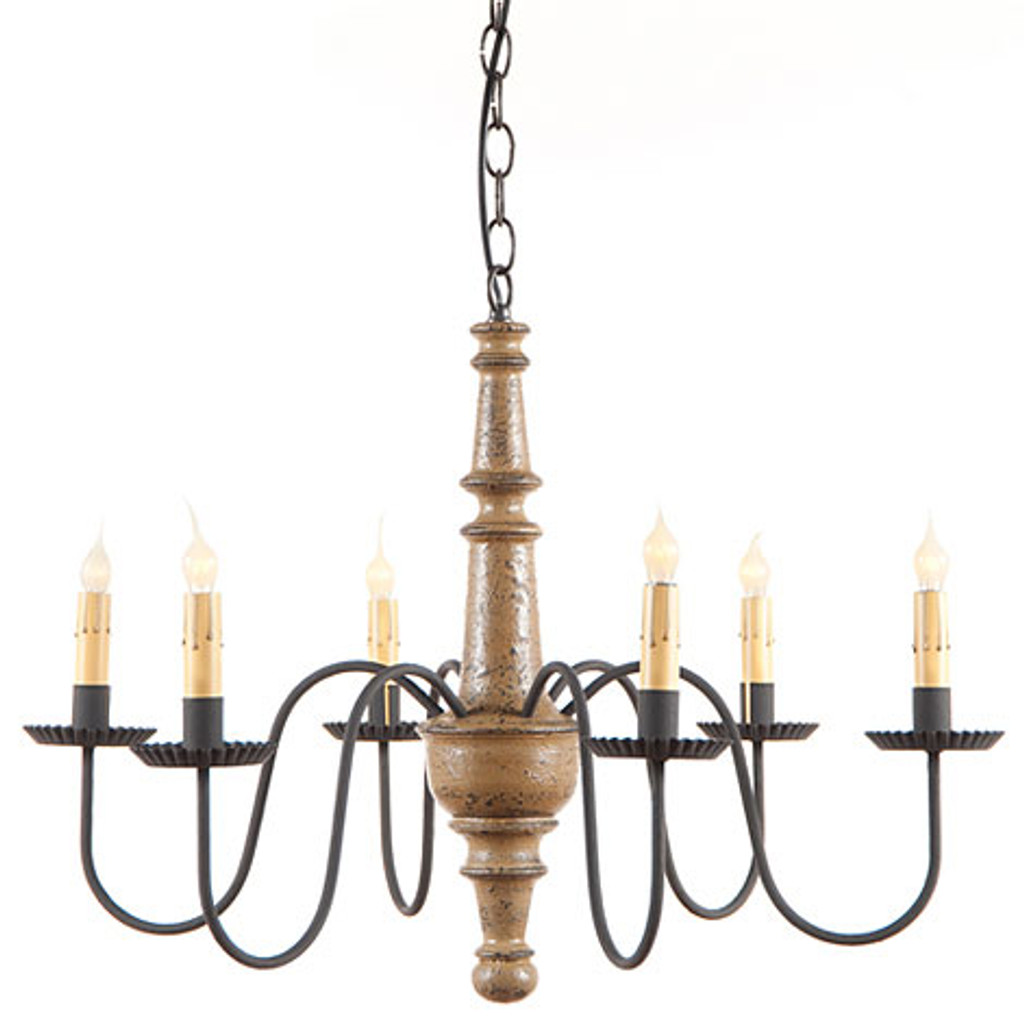Irvin's Harrison Wooden Chandelier In Americana Pearwood