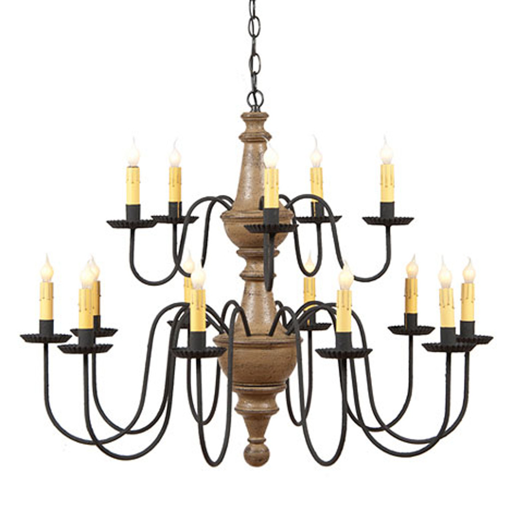 Irvin's Harrison 2 Tier Wooden Chandelier In Americana Pearwood