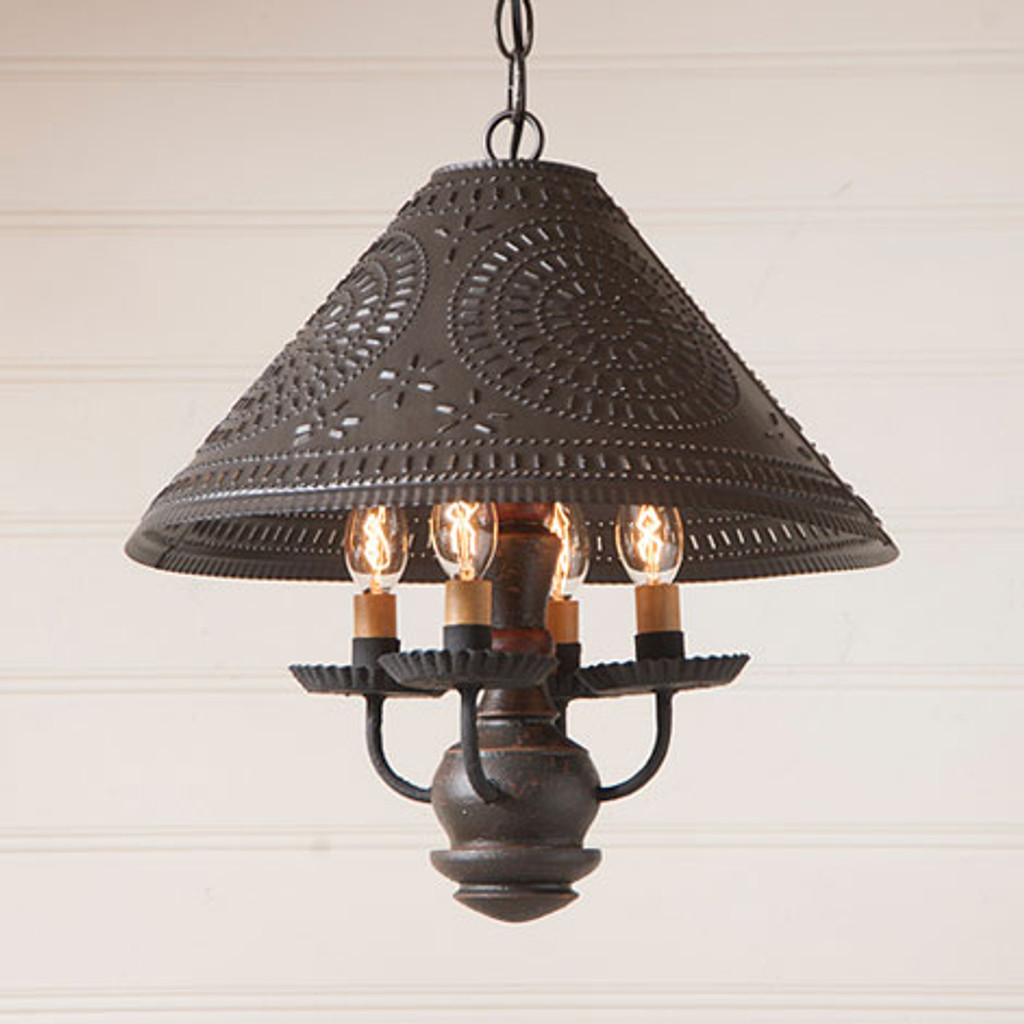 Irvin's Homespun Shade Light In Americana Espresso With Red