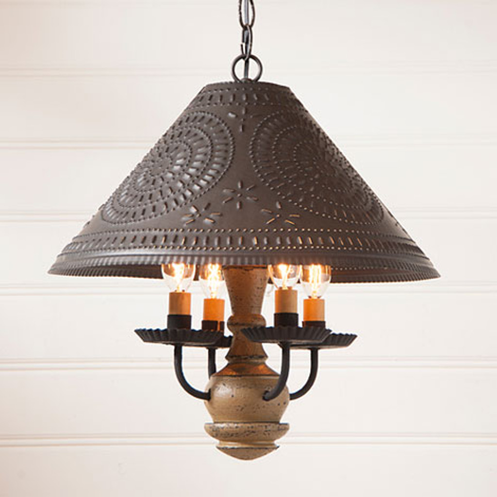 Irvin's Homespun Shade Light In Americana Pearwood