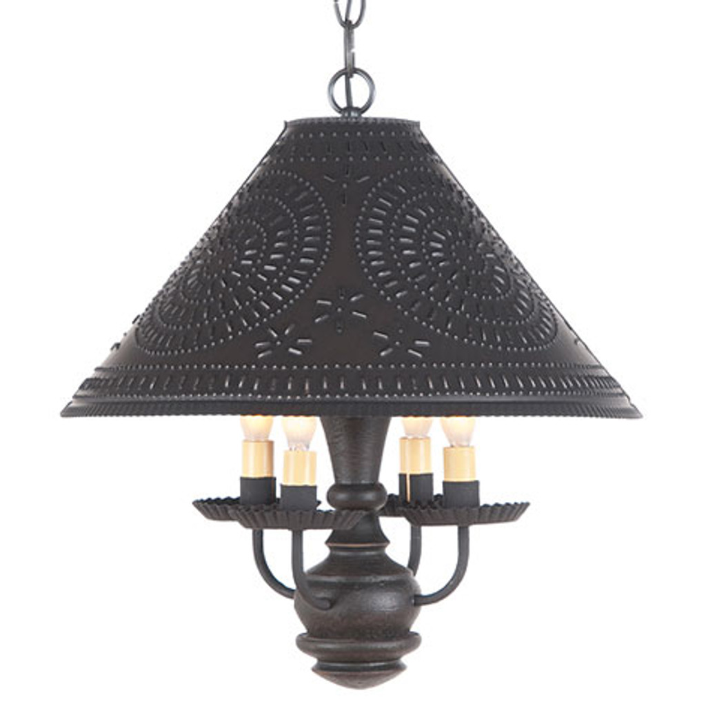 Irvin's Homespun Shade Light In Americana Black