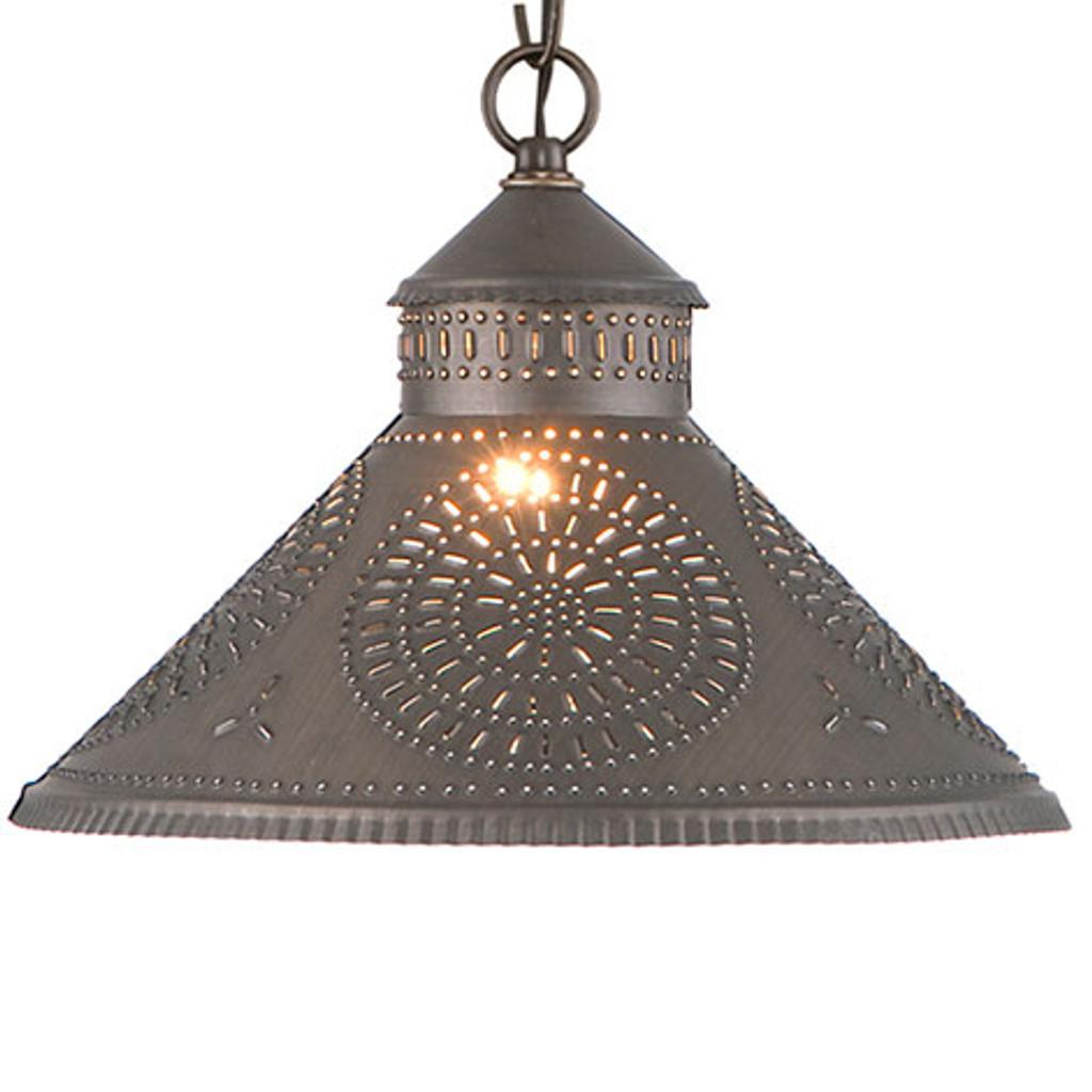 Irvin's Stockbridge Shade Light With Chisel Design Finished In Kettle Black