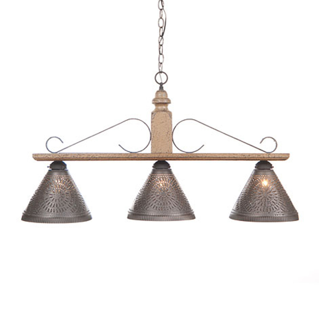 Irvin's Wellington Hanging Light - Large - Finished in Americana Pearwood
