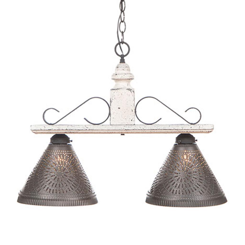 Irvin's Wellington Hanging Light - Medium - Finished In Americana Vintage White