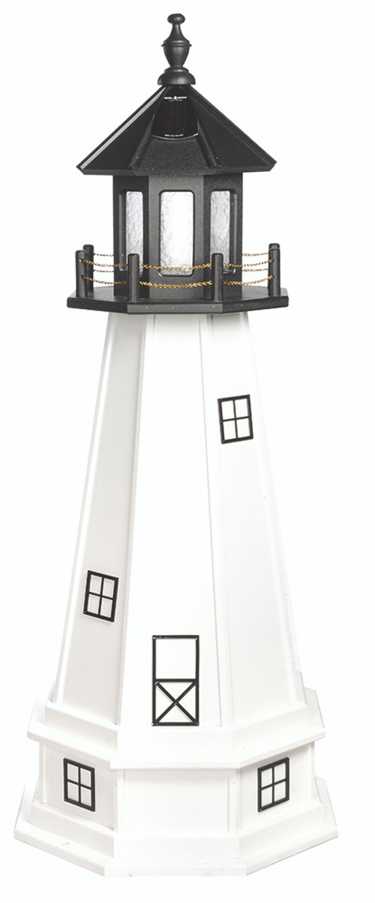 Amish Made Poly Outdoor Lighthouse Cape Cod Model
