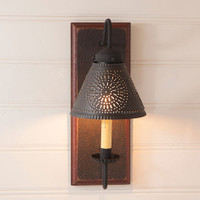 Irvin's Crestwood Wall Sconce Finished In Americana Espresso With Red