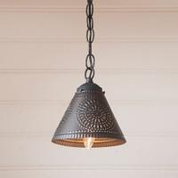 Irvin's Crestwood Shade Light Finished In Kettle Black
