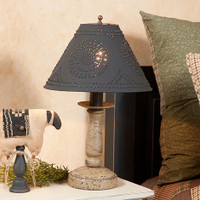Irvins Butchers Chamberstick Lamp In Americana Colors