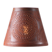 Irvin's Fireside Shade 14 Inch - Chisel Design Finished In Rustic Tin