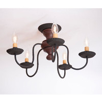 Irvin's Thorndale Ceiling Light In Americana Plantation Red