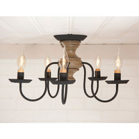Irvin's Thorndale Ceiling Light In Americana Pearwood