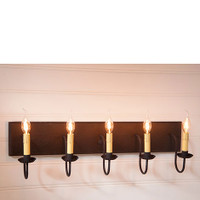 Irvin's 5 Arm Vanity Light In Americana Black
