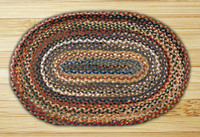 Earth Rugs™ oval braided jute rug in pictured in: Random Colors - C-999