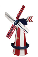 Amish Crafted Poly Windmill Medium Finished In Primary Color: Patriotic Style, Accent/Trim Color: Patriotic Style