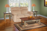 Amish Handcrafted Harvest Coffee & End Tables by Vintage Creations By Sam - Finished In Antique 2-Tone Finish,
