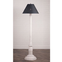 "Irvin's Brinton House Floor Lamp In Americana Vintage White, Shown WIth Optional 17"" Flared Shade"
