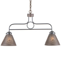 Irvin's Franklin Medium Hanging Light With Chisel Design Finished in Kettle Black
