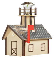 Amish Made Lighthouse Mailbox in Brown & Ivory