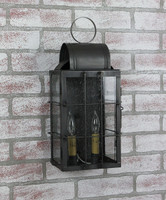 Katie's Handcrafted Lighting Medium Danbury Outdoor Wall Lantern - Finished In Dark Brass