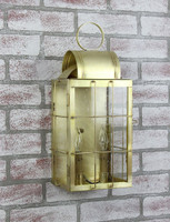 Katie's Handcrafted Lighting Medium Danbury Outdoor Wall Lantern - Finished In Raw Brass