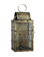 Katie's Handcrafted Lighting Medium Danbury Outdoor Wall Lantern - Finished In Antique Brass