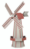 Amish Crafted Poly Windmill, Finished In Primary Color: Driftwood, Accent/Trim Color: Cherrywood