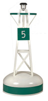 Amish Handcrafted Ornamental Buoy - Large Green