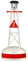 Amish Handcrafted Ornamental Buoy - Small Red
