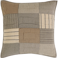 Sawyer Mill Charcoal Quilted Euro Sham by VHC Brands - Front