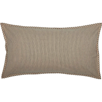 Sawyer Mill Charcoal Ticking Stripe Sham by VHC Brands - King
