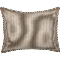 Sawyer Mill Charcoal Ticking Stripe Sham by VHC Brands - Standard