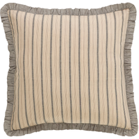 Sawyer Mill Charcoal Collection Euro Sham by VHC Brands - Front