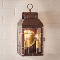 Irvin's Tinware Martha's Wall Lantern Finished In Antique Copper