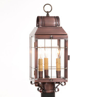 Irvin's Martha's Post Lantern Finished In Antique Copper