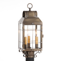 Irvin's Martha's Post Lantern Finished In Weathered Brass