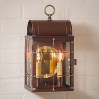 Irvin's Toll House Wall Outdoor Lantern Finished In Antique Copper