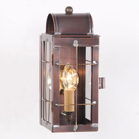 Irvin's Tinware Outdoor Cape Cod Wall Lantern Finished In Antique Copper