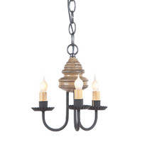 Irvins Bellview Wooden Chandelier In Americana Pearwood