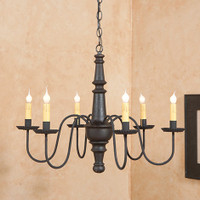 Irvin's Harrison Wooden Chandelier In Americana Black