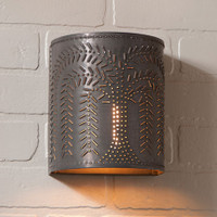 Irvin's Willow Sconce Finished In Blackened Tin