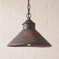 Irvin's Stockbridge Shade Light With Chisel Design Finished In Kettle Black