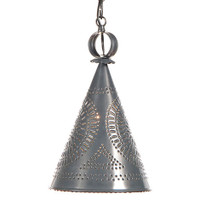 Irvin's Sturbridge Witch's Hat Hanging Light Finished In Country Tin