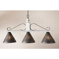 Irvin's Wellington Hanging Light - Large - Finished in Americana Vintage White