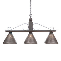 Irvin's Wellington Hanging Light - Large - Finished in Americana Black