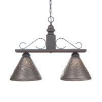 Irvin's Wellington Hanging Light - Medium - Finished In Americana Black