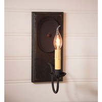 Irvin's Primitive Wilcrest Sconce In Americana Black
